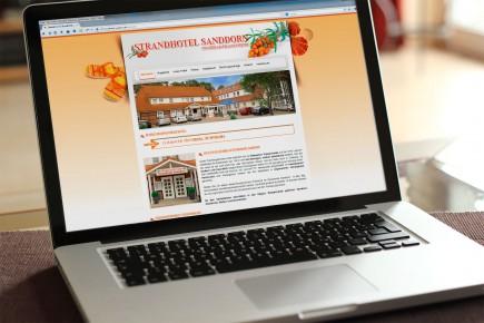 Webdesign Strandhotel Sanddorn