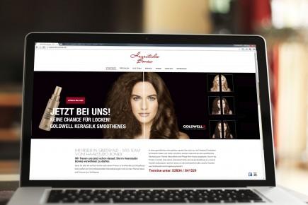 Webdesign Haarstudio Bonies Greifswald