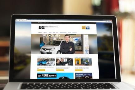 Webdesign Internetseite Autohaus Boris Becker Renault