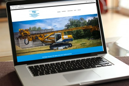 Webdesign TBJ-Spezialtiefbau